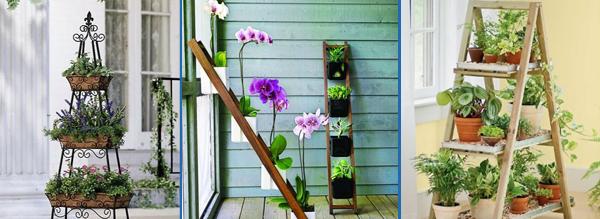 Um jardim de grades, estantes ou escadas, tambu00e9m su00e3o u00f3timas ...